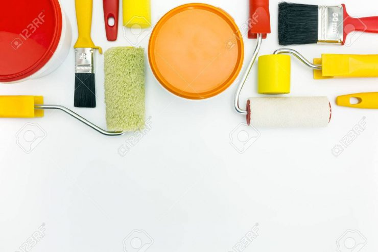 39893883-home-renovations-painting-tools-and-accessories-on-white-background-